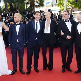 Adele Exarchopoulos, Hopper Penn, Javier Bardem, Charlize Theron, Jean Reno, Jared Harris in 69th Cannes Film Festival - The Last Face Premiere - Arrivals