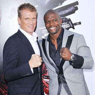 Dolph Lundgren, Terry Crews in Los Angeles Premiere of 'The Expendables'