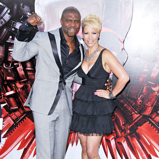 Terry Crews, Rebecca Crews in Los Angeles Premiere of 'The Expendables'