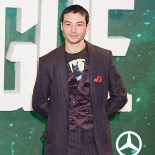 Ezra Miller in London Photocall for Justice League