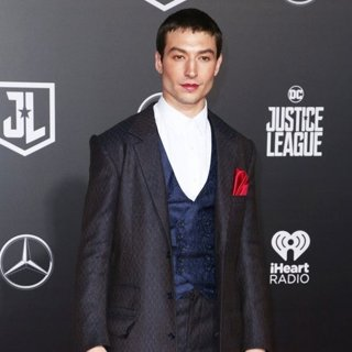 Ezra Miller in Justice League Film Premiere