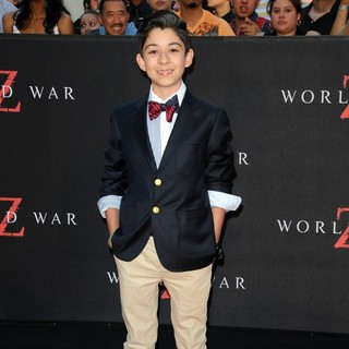 Fabrizio Zacharee Guido in New York Premiere of World War Z - Arrivals