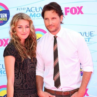 Luca Bella Facinelli, Peter Facinelli in The 2012 Teen Choice Awards - Arrivals