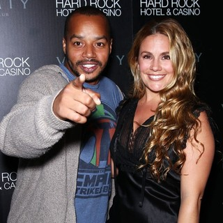 Donald Faison, CaCee Cobb in Skyline Movie Cast Party at Vanity Nightclub Inside