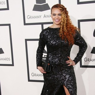 Faith Evans in The 56th Annual GRAMMY Awards - Arrivals