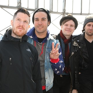 Fall Out Boy in Fall Out Boy Promote Their Album Save Rock and Roll During A Photocall