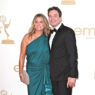 Jimmy Fallon, Nancy Juvonen in The 63rd Primetime Emmy Awards - Arrivals