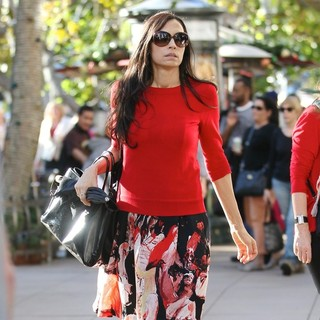 Famke Janssen in Famke Janssen Shopping at The Grove