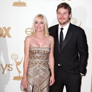 Anna Faris, Chris Pratt in The 63rd Primetime Emmy Awards - Arrivals
