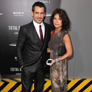 Colin Farrell, Claudine Farrell in Los Angeles Premiere of Total Recall