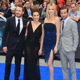 Michael Fassbender, Noomi Rapace, Charlize Theron, Logan Marshall-Green in Prometheus UK Film Premiere - Arrivals