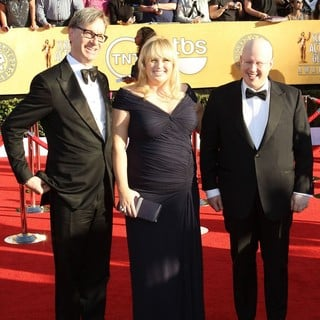 Paul Feig, Rebel Wilson, Matt Lucas in The 18th Annual Screen Actors Guild Awards - Arrivals