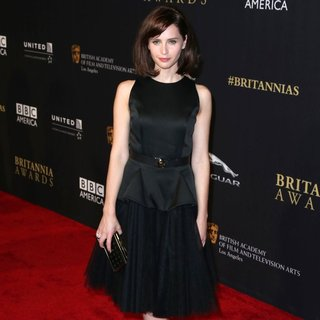 Felicity Jones in 2014 BAFTA Los Angeles Jaguar Britannia Awards Presented by BBC America and United Airlines