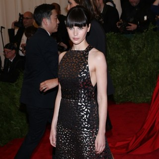 Felicity Jones in PUNK: Chaos to Couture Costume Institute Gala