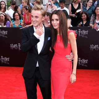 Tom Felton, Jade Gordon in New York Premiere of Harry Potter and the Deathly Hallows Part II - Arrivals