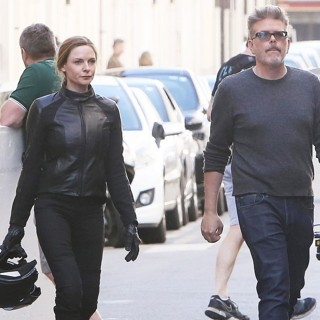 Rebecca Ferguson (II), Christopher McQuarrie in On The Film Set of Mission: Impossible 6