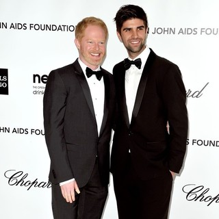 Jesse Tyler Ferguson, Justin Mikita in The 20th Annual Elton John AIDS Foundation's Oscar Viewing Party - Arrivals