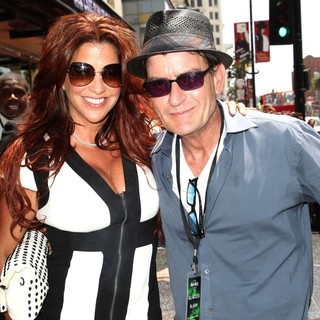 Perla Ferrar, Charlie Sheen in Slash Honored with A Star on The Hollywood Walk of Fame