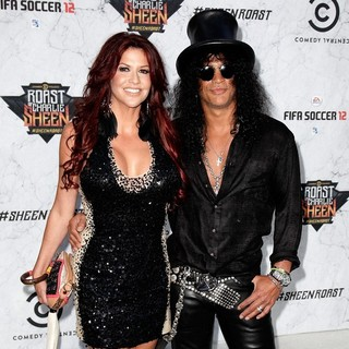 Perla Ferrar, Slash in Comedy Central Roast of Charlie Sheen - Arrivals