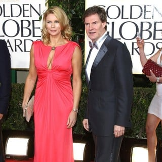 Veronica Ferres, Carsten Maschmeyer in 70th Annual Golden Globe Awards - Arrivals