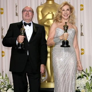Dante Ferretti, Francesca Lo Schiavo in 84th Annual Academy Awards - Press Room