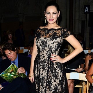 Bryan Ferry, Kelly Brook in London Fashion Week Spring-Summer 2013 - Philip Treacy - Front Row