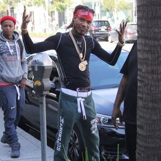 Fetty Wap Out and About with Friends