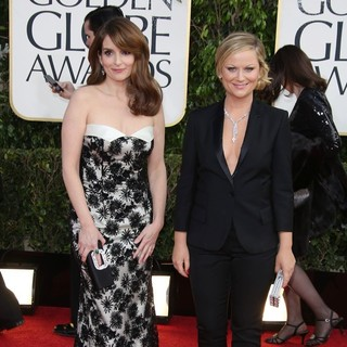 Tina Fey, Amy Poehler in 70th Annual Golden Globe Awards - Arrivals