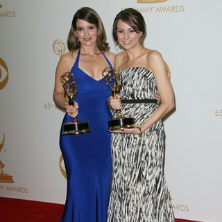 Tina Fey, Tracey Wigfield in 65th Annual Primetime Emmy Awards - Press Room