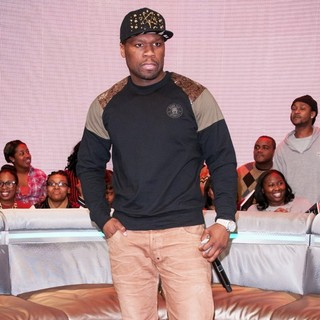 50 Cent in Celebrities Attend BET's 106 and Park Taping