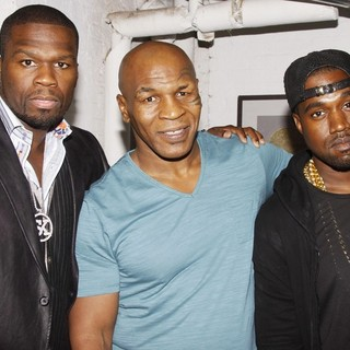 50 Cent, Mike Tyson, Kanye West in After Performance of The Broadway Play Mike Tyson: Undisputed Truth