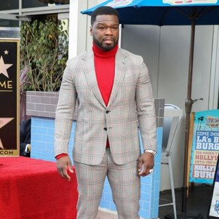 50 Cent in 50 Cent Is Honored with A Star on The Hollywood Walk of Fame
