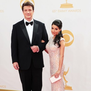 Nathan Fillion, Mikaela Hoover in 65th Annual Primetime Emmy Awards - Arrivals