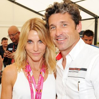 Jillian Fin, Patrick Dempsey in Formula 1 - 2014 German Grand Prix