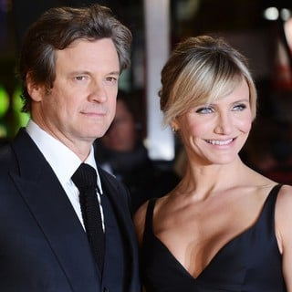 Colin Firth in The World Premiere of Gambit - firth-diaz-uk-premiere-gambit-01