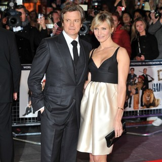 Colin Firth in The World Premiere of Gambit - firth-diaz-uk-premiere-gambit-05