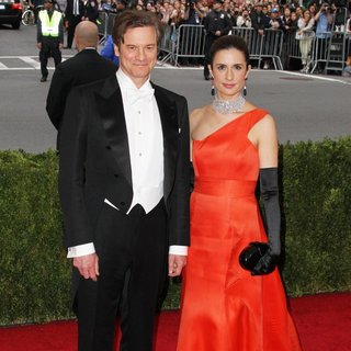 Colin Firth, Livia Giuggioli in Charles James: Beyond Fashion Costume Institute Gala - Arrivals
