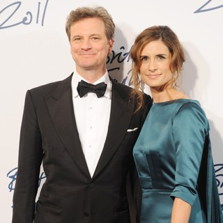 Colin Firth, Livia Giuggioli in British Fashion Awards 2011 - Arrivals