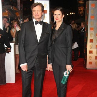Colin Firth, Livia Giuggioli in Orange British Academy Film Awards 2012 - Arrivals