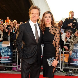 Colin Firth, Livia Giuggioli in The Premiere of Tinker, Tailor, Soldier, Spy