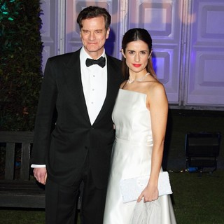 Colin Firth, Livia Giuggioli in Winter Whites Gala Dinner - Arrivals