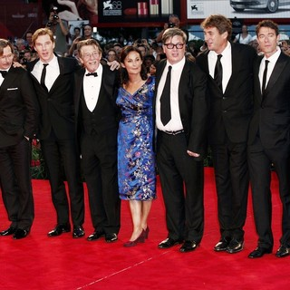 Colin Firth, Gary Oldman, Benedict Cumberbatch, John Hurt, Robyn Slovo, Tomas Alfredson, Tim Bevan, Peter Straughan, Mark Strong in The 68th Venice Film Festival - Day 6 - Tinker, Tailor, Soldier, Spy - Premiere