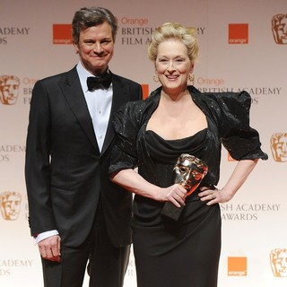 Colin Firth, Meryl Streep in Orange British Academy Film Awards 2012 - Press Room