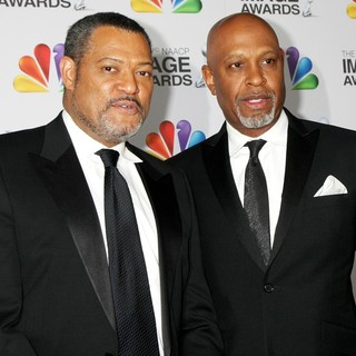 Laurence Fishburne, James Pickens Jr. in The 43rd Annual NAACP Awards - Arrivals