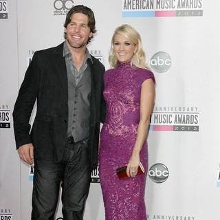 Mike Fisher, Carrie Underwood in The 40th Anniversary American Music Awards - Arrivals