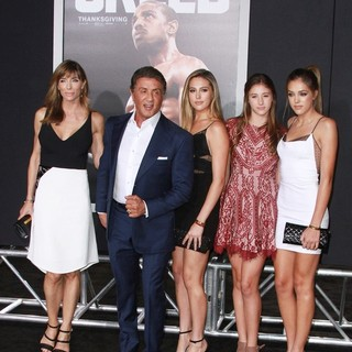 Jennifer Flavin, Sylvester Stallone, Sophia Rose Stallone, Scarlet Rose Stallone, istine Rose Stallone in Los Angeles Premiere of Creed - Arrivals