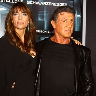 Jennifer Flavin, Sylvester Stallone in New York Movie Premiere for Escape Plan