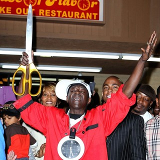Flavor Flav, Public Enemy in The Official Grand Opening of The Flavor Flav House of Flavor Take Out Restaurant