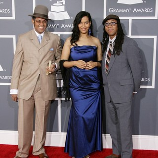 Dom Flemons, Rhiannon Giddens, Hubby Jenkins in 55th Annual GRAMMY Awards - Arrivals