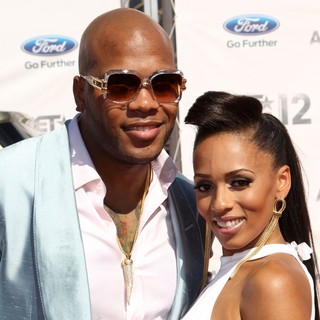 Flo Rida, Melyssa Ford in The BET Awards 2012 - Arrivals